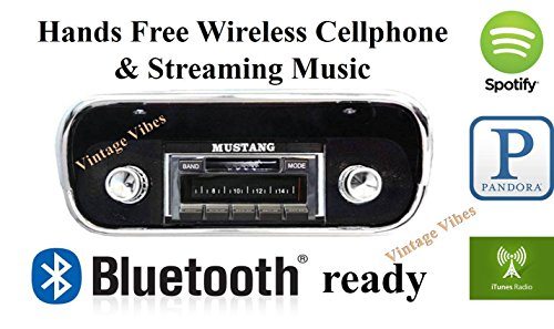 Custom Autosound Stereo BLUKIT compatible with 1967-1973 Mustang, USA-630 II Bluetooth Enabled High Power 300 watt AM FM Car Stereo Radio