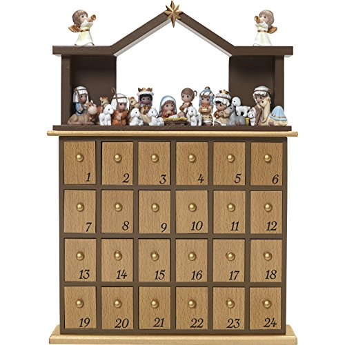 "Precious Moments"" O Come Let Us Adore Him Nativity Advent Calendar (Set of 26), Multicolor"