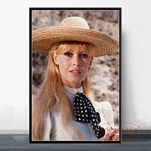 wZUN Estrella de Cine Modelo de Actriz Pintura de Arte Lienzo Vintage Cartel Pared decoracion del hogar 60x80 Sin Marco