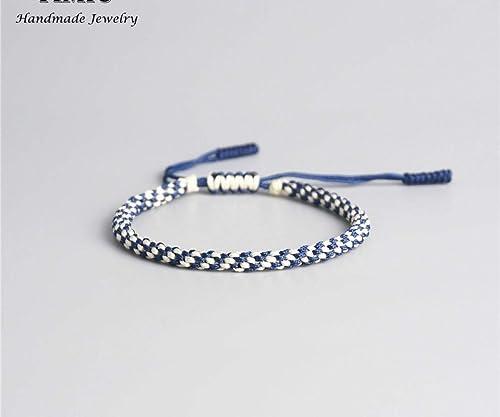 3bad0a341f Amazon.com  Lucky Handmade Bracelet Tibetan Buddhist Lucky Amulet Tibetan  Bracelets   Bangles For Women And Men Handmade Knots Rope Lucky Gift  Bracelet ...