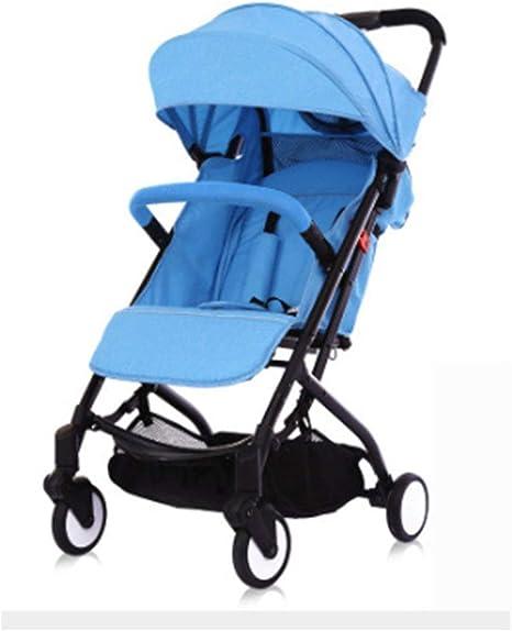 Opinión sobre Cochecito de bebé Cochecito portátil Ultraligero, Cochecito Plegable con Amortiguador de Choque de Cuatro Ruedas de Alto Paisaje para niños