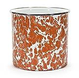 Golden Rabbit Kitchen Utensil Holder Crock Kitchen Storage Organization Containers Red Swirl Enamelware 6'' Set of 2