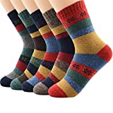 Zando Women's Winter Vintage Soft Wool Sock Warm Mid Calf Socks Cozy Casual Mens Thick Cabin Sock