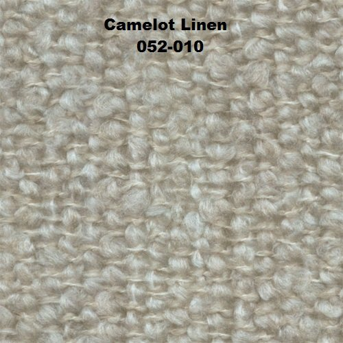 Camelot 88% Acrylic Boucle Throw with Fringe Linen