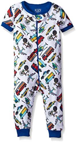 The Children's Place Baby Boys' Li'l Guy's Short Sleeve Printed Stretchie