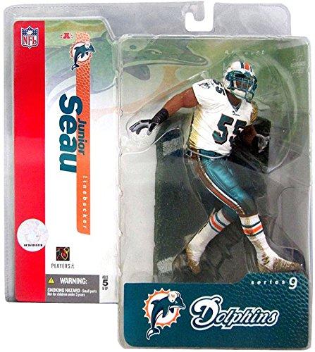 McFarlane Toys NFL Sports Picks Series 9 Action Figure Junior Seau (Miami Dolphins) Variant