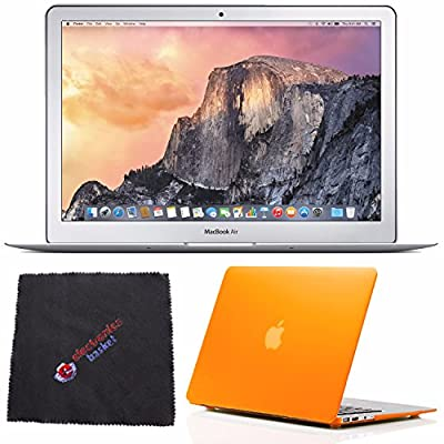 "Apple 13.3"" MacBook Air Laptop Computer MMGF2LL/A + Frosted Orange Case for 13"" Macbook Air + Microfiber Cleaning Cloth & MORE Bundle Kit"