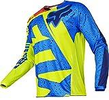 Fox Racing 2017 180 Jersey - Nirv (LARGE) (YELLOW/BLUE)