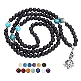 Description:Lava Stone: Lava stone--Brings in intense inner peace while calming emotions. Volcanic Lava - Balance root Chakras. Maintaining a healthy root Chakra is important in maximizing life energy, endurance, rhythm, and connection to nature.108...