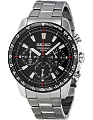 Seiko SSB031 Mens Chronograph Stainless Steel Case Watch