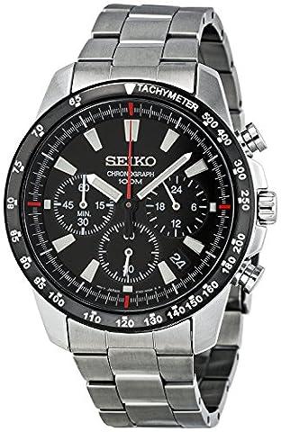 Seiko SSB031 Men's Chronograph Stainless Steel Case Watch (Chronograph Seiko)