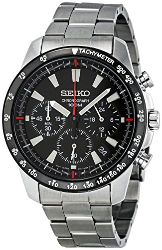 Seiko SSB031 Men's Chronograph Stainless Steel Case Watch (Seiko Watches For Men Ssc)