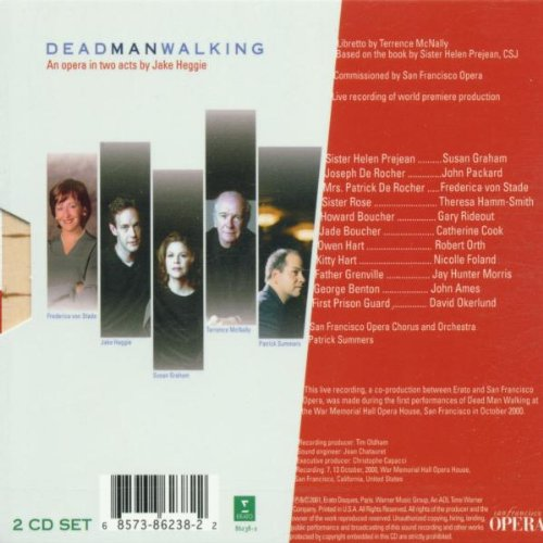 Heggie: Dead Man Walking (Live recording of 2000 world premiere production) by Alliance