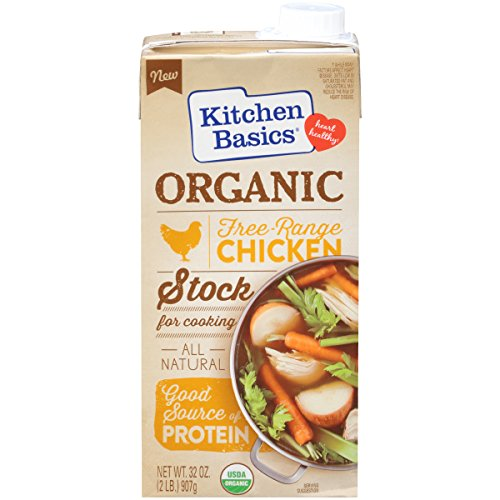 Kitchen Basics Organic Free Range Chicken Stock, 32 oz (Pack of ()