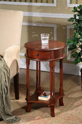 All Things Cedar HR23 Round Accent Table, Cherry