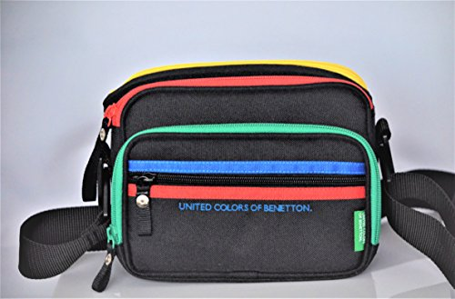 United Colors of Benetton Video Camera Camcorder Lens Shoulder Travel Bag Case Padded Weather Resistant Black For Sony Handycam, Nikon or Canon DSLR Camera lenses & accessories