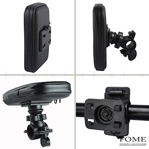 Waterproof Bike Mount, FOME Universal Case Bike Mount Holder Water, Sand, Dirt Resistant Waterproof Case Bike Mount Phone Holder + FOME GIFT