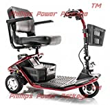 Golden Technologies - LiteRider - Lightweight Travel Scooter - 3-Wheel - Red - PHILLIPS POWER PACKAGE TM - TO $500 VALUE