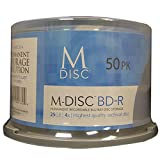 M-DISC 25GB Blu-ray Permanent Data Archival / Backup Blank Disc Media - 50 Pack Cake Box