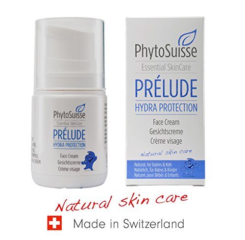 PhytoSuisse natürliche, extra schonende Gesichtscreme - Prélude Hydra Protection Face Cream - für Allergiker und Baby geeignet, 50ml