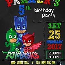 Pj Mask Birthday Invitation
