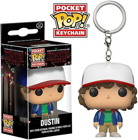 Amazon.com: Funko Pop - Llavero con figura de Dustin Action ...
