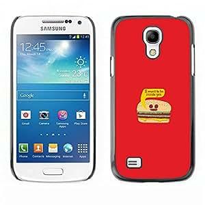 Caucho caso de Shell duro de la cubierta de accesorios de protección BY RAYDREAMMM - Samsung Galaxy S4 Mini i9190 - La vida de la hamburguesa