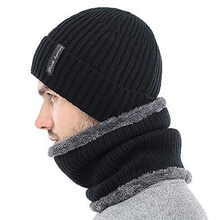 Amazon.com: HOKUGA Winter Beanies Men Scarf Knitted Hat Caps Mask Gorras Bonnet Warm Baggy Winter Hats For Men Women Skullies Beanies Hats: Beauty