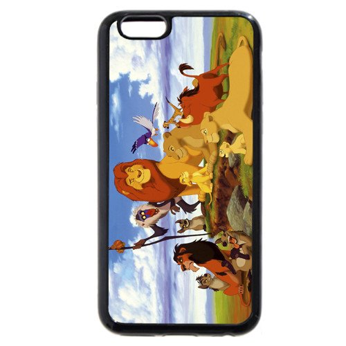 """Customized Black Soft Rubber(TPU) Disney Cartoon the Lion King iPhone 4.7 Case, Only fit iPhone 6 4.7"""""""