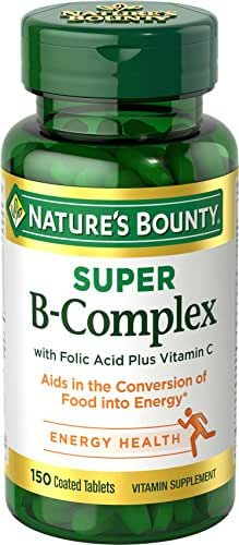Nature's Bounty Super B Complex w/Folic Acid plus Vitamin C, 150 Count