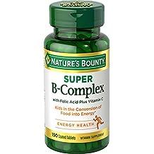 Nature's Bounty Super B Complex w/Folic Acid plus Vitamin C, 150 Tablets