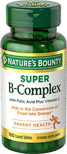 Nature's Bounty Super B Complex w/Folic Acid plus Vitamin C, 150 Tablets