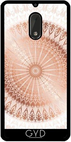 Funda de silicona para Nokia 6 - Mandala De Rosa De Oro Blanco by Nina Baydur