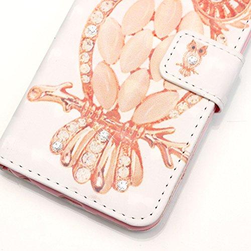 [Flip Case Cover] iPod Touch 5 / 6 Carcasa Sunroyal® Ultra Slim PU Leather Cuero Cobertura Bookstyle Wallet Cubierta Caja Carcasa Con [Función de Soporte] [Cierre Magnético] [Billetera con Tapa para T M-09