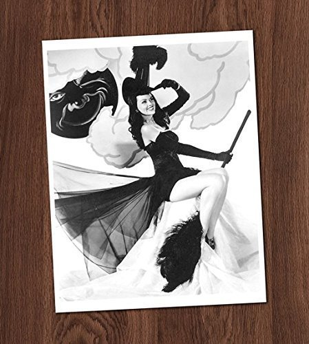 Witch on Broom Pin Up Photo Vintage Art Print 8x10 Wall Art Halloween Decor for $<!--$12.00-->