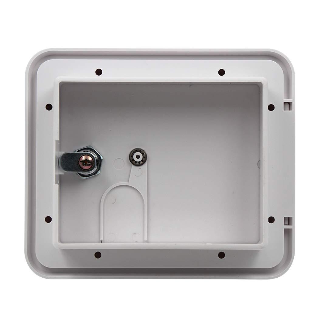 Shiwaki Couvercle Carr/é De Trappe De C/âble dalimentation /électrique en Plastique ABS avec Cl/és De Verrouillage