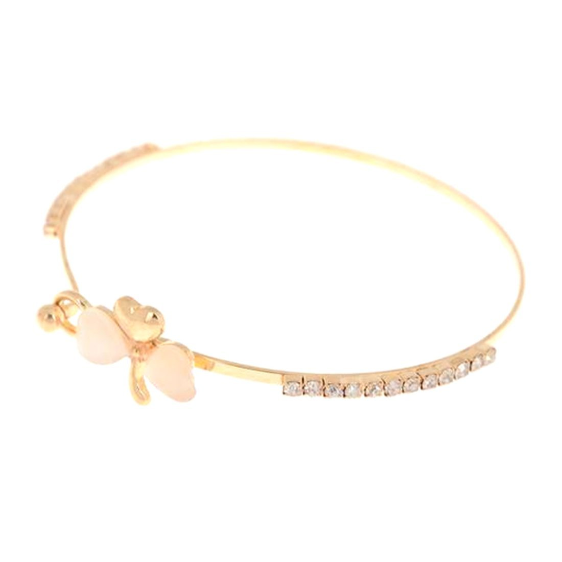 Sweet Clover Bangle Creative Personality Unique Sweet Clover Bracelet Bangle Fashion Jewelry Gift for Girls Women