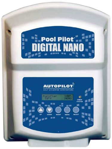 AquaCal Autopilot DN2 Digital Nano 220-volt Salt Chlorine Generator for Pools, 22000-Gallon Autopilot Salt Chlorine Generator