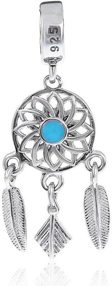 Capteur de r/êves en argent sterling 925 pour bracelets et colliers