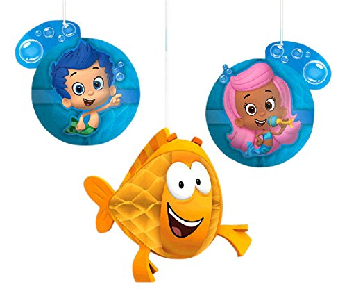 Amscan Bubble Guppies&Trade Party Honeycomb Decorations Childrens-Party-Decorations -