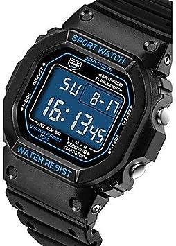 XKC-watches Relojes para Hombres, Sanda Hombre Reloj de Pulsera Reloj Elegante Reloj Militar Reloj de Moda Reloj Deportivo Digital Cuarzo Japonés Cronógrafo Resistente al