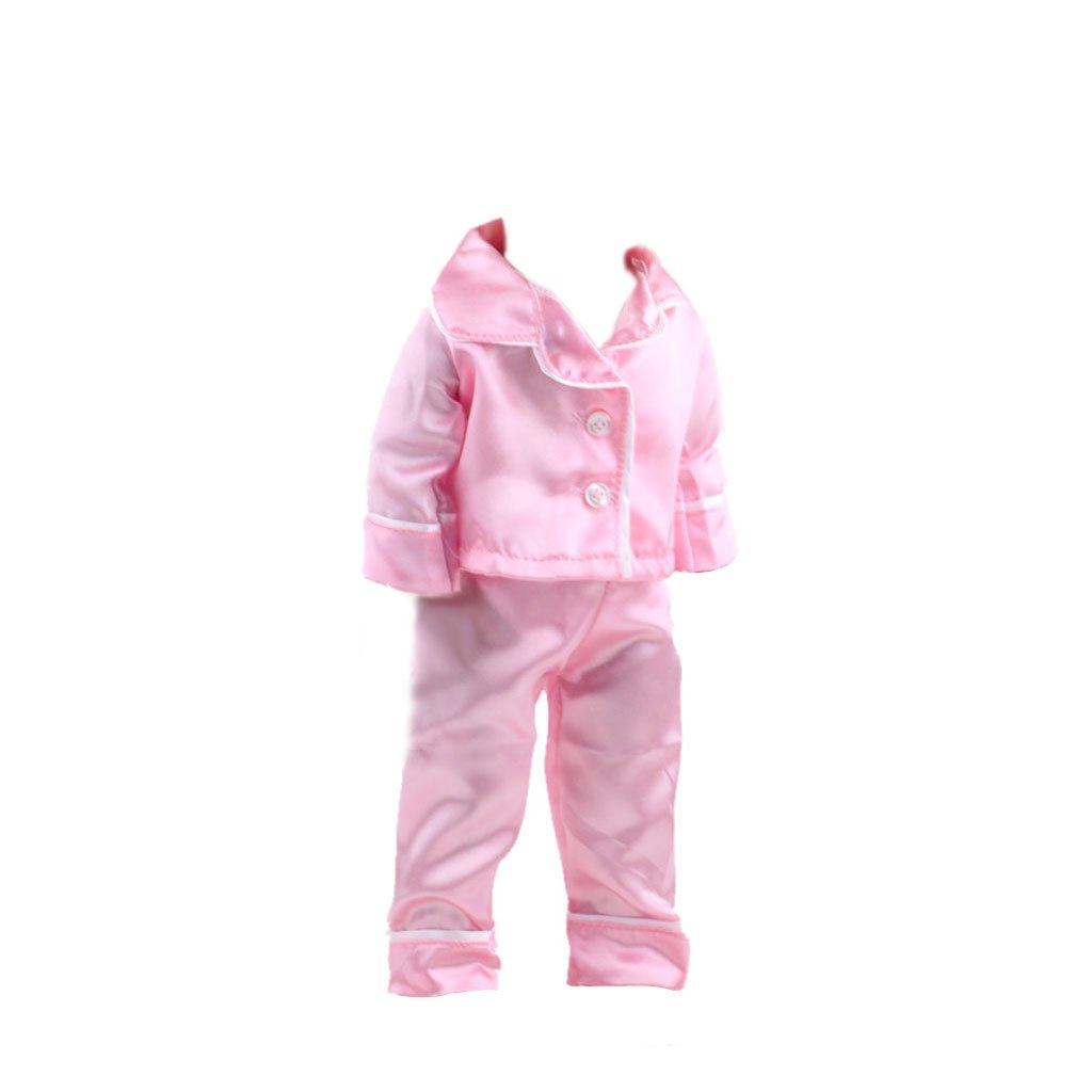 Handmade Pink Pajamas PJS Clothes for 18inch AG American Girl Our Generation Journey My Life Dolls Generic STK0157001952