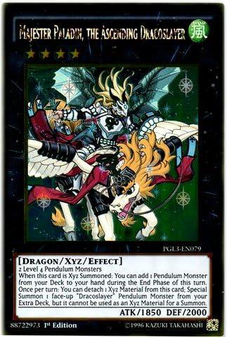 PGL3-EN079 Gold Rare 1st Editi the Ascending Dracoslayer Majester Paladin