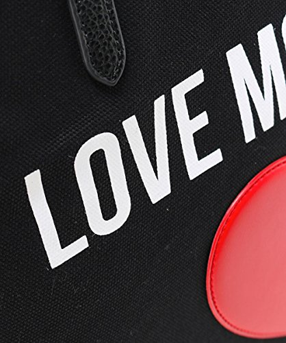 Love Moschino Women's Canvas Logo Shopper Bag Black One Size by Love Moschino (Image #4)'
