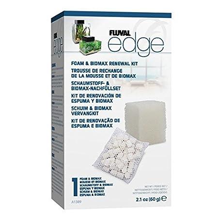 amazon com fluval edge foam biomax filter media renewal kit