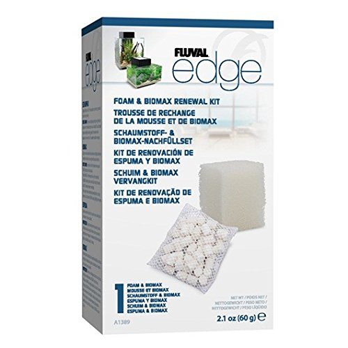 Fluval EDGE Foam & Biomax Filter Media Renewal Kit - Edge Tank