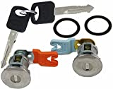 auto keys and locks - APDTY EM69973 Door Lock Cylinder Pair With New Keys & Gaskets For 1995-2011 Ford Trucks (Except Smart Key or Transponder Key Models; Match Image To Your Vehicle To Verify)