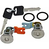 APDTY EM69973 Door Lock Cylinder Pair With New Keys & Gaskets For 1995-2011 Ford Trucks (View Description)