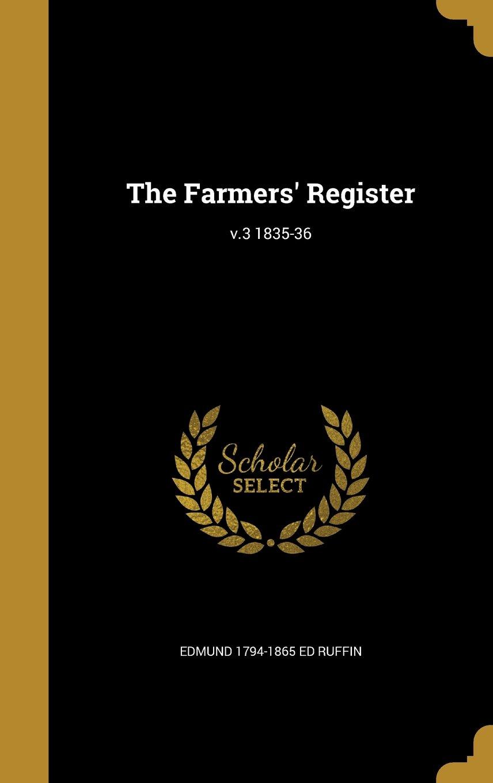 Download The Farmers' Register; V.3 1835-36 pdf