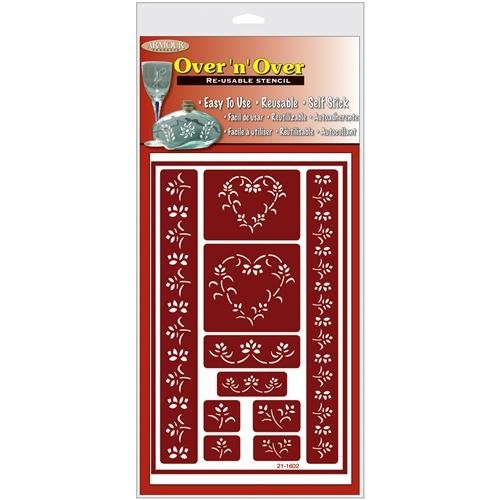Over 'N' Over Reusable Stencils 5x8-Hearts Armour Products 27125918